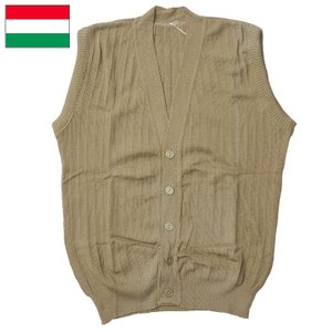ハンガリー軍 ウールベスト ベージュ USED|seabees
