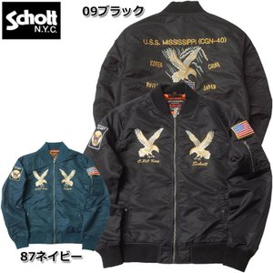 Schott #3172013 ナイロン MA-1 『MISSISSIPPI』【日本正規販売店】ショット スカジャン 返品・交換不可【TKA】 seabees