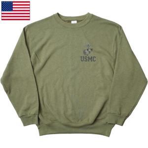 セール中 米軍 U.S.M.C. スウェットシャツ オリーブ デッドストック seabees