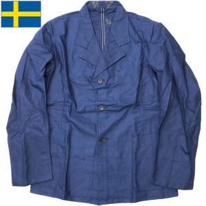 セール中 スウェーデン軍 ワークジャケット ブルー USED seabees