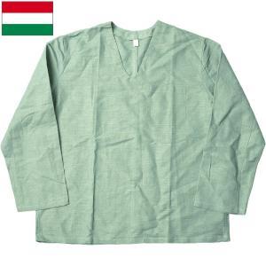 ハンガリー軍 リネン パジャマシャツ デッドストック|seabees
