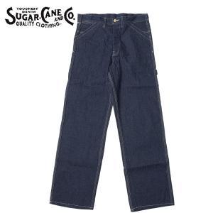 SUGAR CANE #SC41633 11オンス ブルーデニム ワークパンツ  メンズ 421ネイビー 30-36|seabees