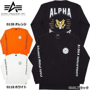 ALPHA社 #TC1293 長袖 プリント Tシャツ 『COALITION EAGLE』 メンズ 全3色 M-XL【TKA】 seabees