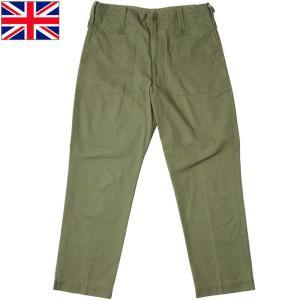 イギリス軍 フィールドパンツ オリーブ 3ポケット USED|seabees