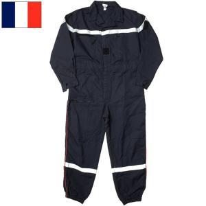 フランス ファイヤーマン カバーオール ネイビー デッドストック seabees