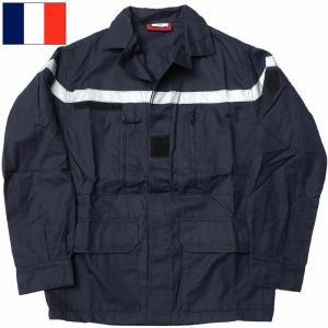 フランス ファイヤーマン F2ジャケット ネイビー デッドストック seabees