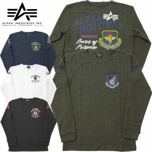 ALPHA社 #TC1332 長袖 プリント ヘリンボーン Tシャツ メンズ 全4色 S-XL【TKA】 seabees