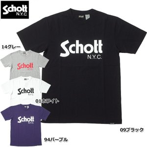 SCHOTT #3183017 半袖 ベーシックロゴ Tシャツ メンズ 全4色 S-XL seabees