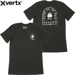 VERTX バーテックス #VTXS0003 半袖 グラフィック Tシャツ『Burn It』 <br>メンズ ブラック S-XL|seabees