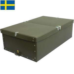 スウェーデン軍 ペーパーボックス オリーブ 33×17×55cm USED BX054UN seabees