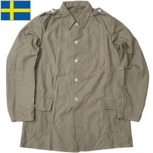 スウェーデン軍 M39 ワークジャケット コットン グレー デッドストック JJ143NN seabees