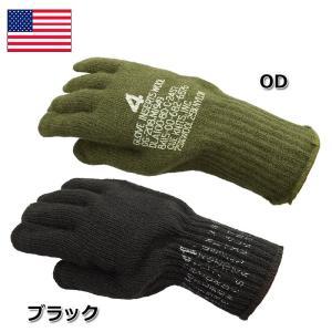 セール中 メール便OK 米軍 ウール グローブ 新品  ブラック OD|seabees