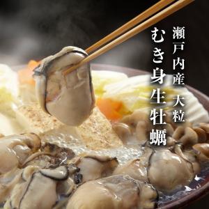 むき 牡蠣 広島産  殻なし カキ 剥き かき むき身 3Lサイズ 1kg(NET850g)|seafoodhonpo88
