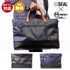 ビジネスバッグ メンズ SEAL 森野帆布 森野帆布コラボ/ビジネスバッグWEAR 防水 本革 日本製 出張|seal-store