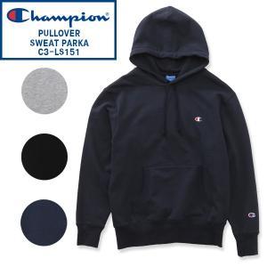 左胸にChampionのワンポイントCロゴ刺繍が入ったチャンピオンのパーカー。 左袖にCロゴ刺繍入り...