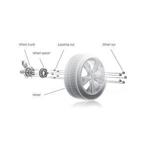 ワイドトレッドスペーサー30mm 114.3-5H-P1.5-30mmナット付 ホイールPCD 114.3mm/5穴対応 2枚セットハブリングワイトレ N|sealovely777|02