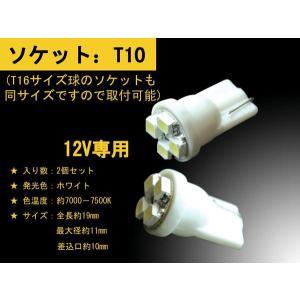 T10 ウェッジ球 LED 高輝度 4SMD 2個セットホワイト超高照度 メール便で送料無料 sealovely777