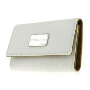 キーケース メンズ ブルガリ BVLGARI 6連キーケース 27734 MilleRighe ミレリゲ ホワイト メンズ プレゼント ギフト 贈り物 送料無料|sears-collection