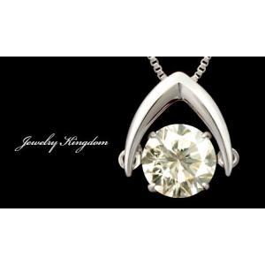 K18WG ホワイトゴールド  天然ダイヤモンド 大粒 0.7ct SIクラス  ダンシングストーン ペンダント 送料込|sears-collection