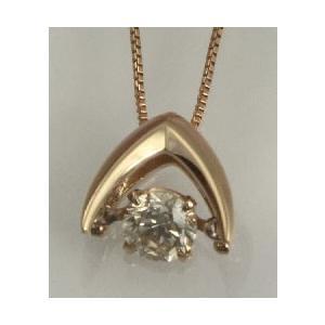 K10ゴールド 天然ダイヤモンド0.3ct ダンシングストーンネックレス 送料込|sears-collection