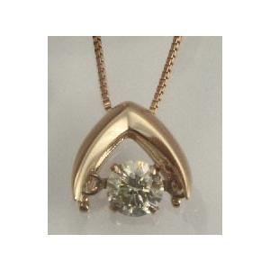 K18ゴールド 天然ダイヤモンド0.2ct ダンシングストーンネックレス 送料込|sears-collection