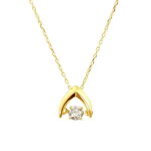 K18ゴールド 天然ダイヤモンド0.1ct ダンシングストーンネックレス 送料込|sears-collection