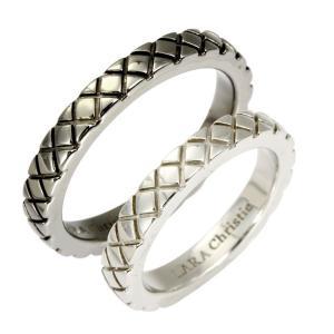 ペアリング リング 指輪 LARA Christie ララクリスティー スノーブラスト PAIR Label r3874-p|sears-collection