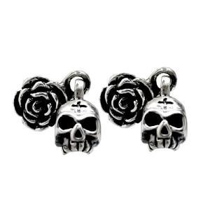 ピアス シルバーアクセサリー シルバー メンズ レディース Royal Joker ロイヤルジョーカー ローズキングスカル(rose king skull) rje-0012 誕生日 ギフト|sears-collection