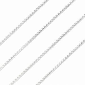 シルバーチェーン ネックレス ベネチアンチェーン シルバー925 SILVER 925 幅 0.9mm 長さ 40/45/50/55/60cm v90 送料無料 ネコポス便|sears-collection|04