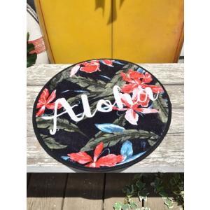 ハワイアンデザイン チェアクッション 敷きマット いす用敷きパッド アロハ |seashells-zakka