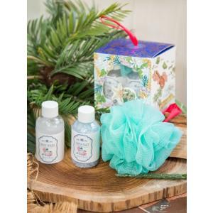 ハワイアンデザイン バスソルト プレゼントセット お風呂用品 おしゃれなちょっとした贈り物 スポンジ BEACH MUSK|seashells-zakka
