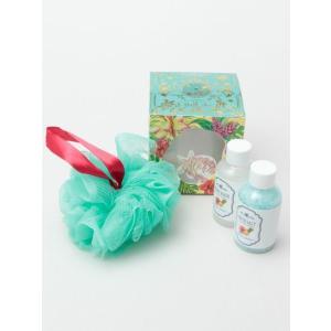 ハワイアンデザイン バスソルト プレゼントセット お風呂用品 おしゃれなちょっとした贈り物 スポンジ ALOHA SUNDAY|seashells-zakka