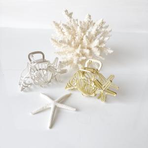 ハワイアンヘアクリップ シェル&スターフィッシュ 貝殻デザイン |seashells-zakka