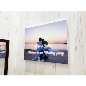 自分の写真で作るオリジナルキャンバス ウェルカムボード 壁掛けインテリアアート おしゃれな写真 サプライズ プレゼント 大きめ|seashells-zakka