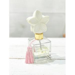 プルメリアデザイン ディフューザー プルメリアの香り プレゼント ルーム おしゃれなハワイアン雑貨|seashells-zakka