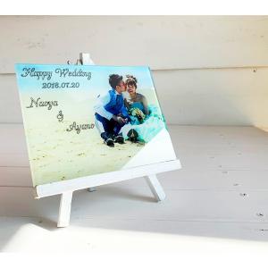 ガラス写真プリント オリジナルフォトプレート ウェディングフォトプリント 撮影写真記念印刷プレート ガラス素材 記念品 出産祝い  |seashells-zakka