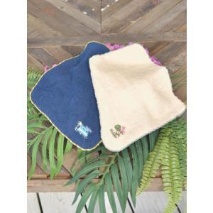 ハワイアンデザイン刺繍ハンドタオル かわいいモンステラ おしゃれなワーゲンバス |seashells-zakka