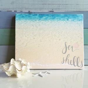 フォトキャンバス Lサイズ BEACHSIDE|seashells-zakka