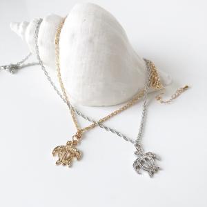 ホヌのハワイアンジュエリー調デザインネックレス ウミガメのペンダント レディースヘッド かわいい亀のネックレス プレゼント|seashells-zakka