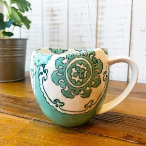 マグカップ ハワイ ビーチテイスト コーヒーカップ ティーカップ Gloriosa Mug Mint ミント エメラルドグリーン アンソロポロジー