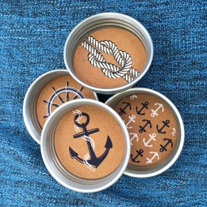 ハワイ 雑貨 小物 ケース アルミ メイソンジャー コースター セット seasky