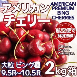 【予約5月中旬】アメリカンチェリー 約2kg パック 空輸 大粒 10〜10.5R 秀品 大玉 新鮮さくらんぼ American Cherry 夏期間限定【人工検品厳選】【送料無料】
