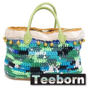 Teeborn トートバック kaleidoscope Green グリーン 緑 レディース|seasons-style