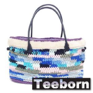 Teeborn トートバック kaleidoscope Blue ブルー 青 レディース|seasons-style
