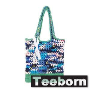 Teeborn トートバック Netnetbag BlueGreen ブルーグリーン レディース|seasons-style