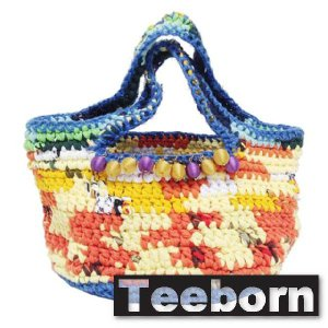 Teeborn トートバック ミニ Kaleidoscope-mini Yellow イエロー 黄色 レディース|seasons-style