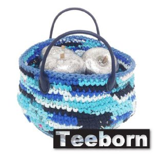 Teeborn インテリアバッグ Fruitsbasket Blue ブルー 青 レディース|seasons-style