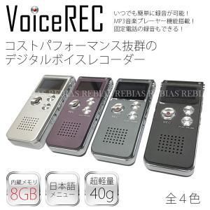 小型 ボイスレコーダー 高音質 8GB ワンタッチ式 簡単操作 ICレコーダー 防犯 記録 録音