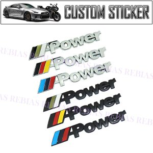 迫力満点!M POWER エンブレム   BMW(ビーエムダブリュー)の中でも一番人気カスタム ライ...