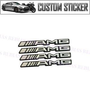 AMG ミニ エンブレム 4個 セット 立体 ステッカー BENZ カスタム パーツ カー用品 st...